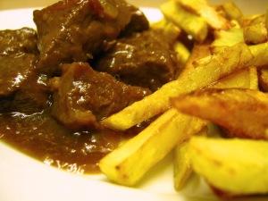 Stoofvlees met friten...lekker!
