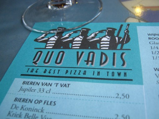 "A friend asked, ""Where are we going?"" Response: ""Quo Vadis."" ""Yes, that's my question."""