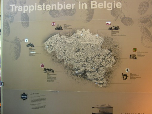 Location of all Trappist monasteries producing beer, in Belgium